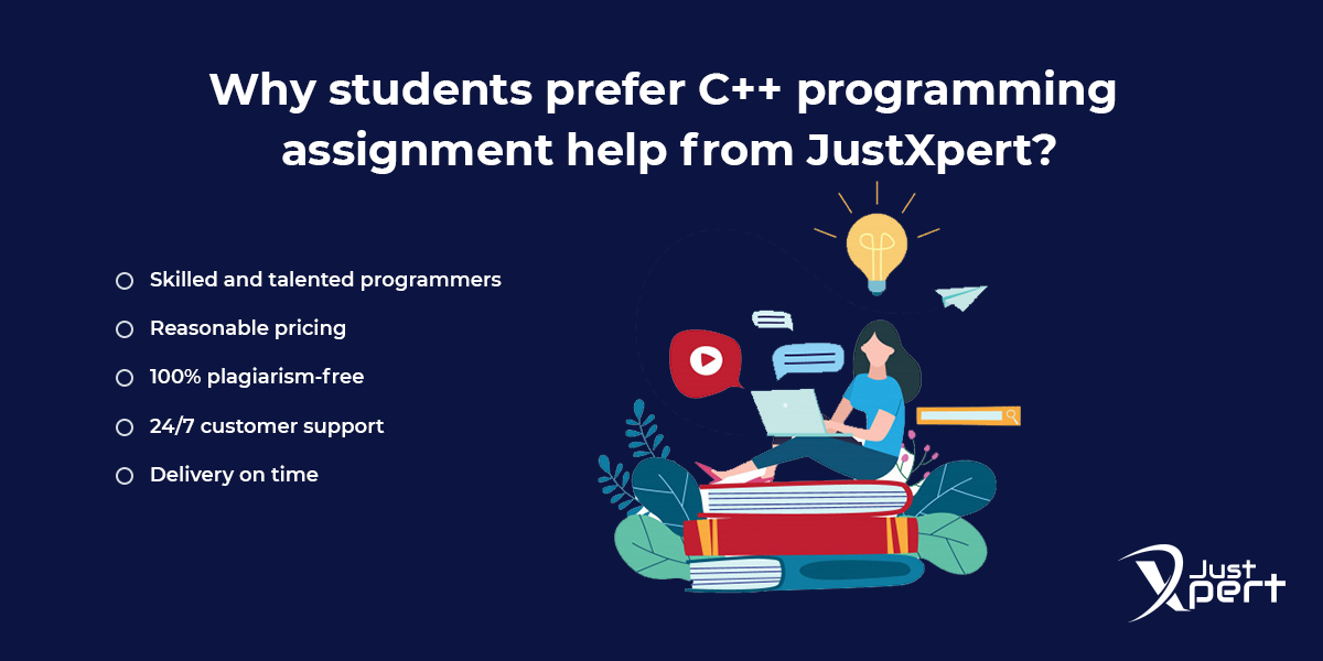 Why JustXpert for C++ Homework Help